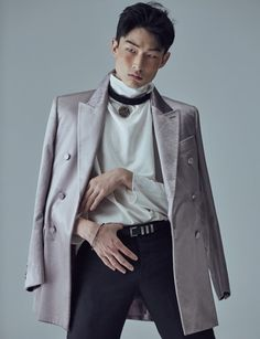 Kim Sang Woo by Kong Young Gyu for L'Officiel Homme Oct 2015