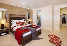 A good size master bedroom.
