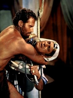 Charlton Heston & Vincent Price in the Ten Commandments