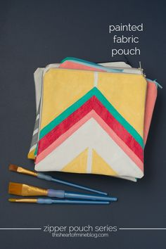 Painted Fabric Pouch