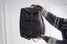 'Amy Valentine: LOOK AT THE WONDERFUL MESS THAT WE MADE- Leather rucksack brown