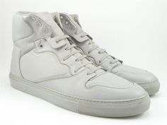 BALENCIAGA sz 46 HAUTE FREQUENCE SNEAKERS 341769 MENS WHITE fits US 13 $635