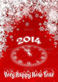 Very happy new year 2014 red