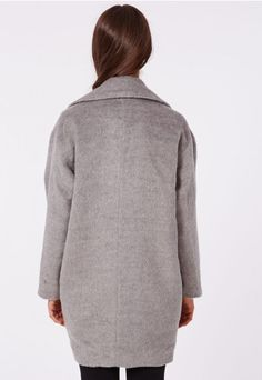 Lena Cocoon Coat Grey - Coats & Jackets - Missguided