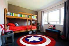 CaptainAmerica Rug For A Childu0027s Bedroom