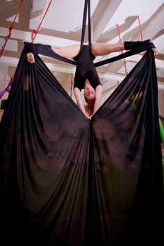 Aerial Silks is a beautiful combination of circus and dance.