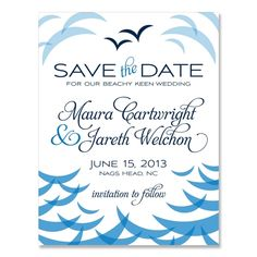 Ocean Save the Date - Unique Wedding Save-the-Date by The Green Kangaroo