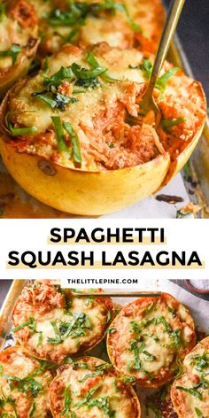 *NEW* Spaghetti squash lasagna serves up all the homey, ooey-gooey flavors of lasagna with the sweet, low carb goodness of spaghetti squash! #spaghettisquashlasagna #ketolasagna #lowcarblasagna #keto #lowcarb
