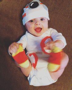 Owen's baby BB-8 costume