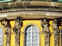 Fabulous Schloss Sansoussi Potsdam Architectural detail from the central bow of the garden fa ade
