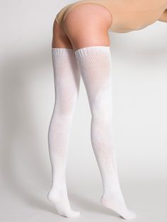 American Apparel - Polyester Solid Thigh-High Socks