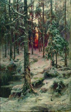 """Юлий Юльевич Клевер (Yuliy Yulevich Klever), """"Forest in Winter"""""""