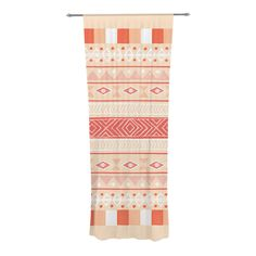 "Skye Zambrana ""Mojave"" Orange Red Decorative Sheer Curtain"