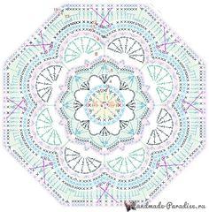 Схемы вязания пледа «Персидский ковер» (5)