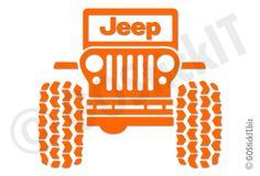 Jeep Logo Big Tires Jeep Vinyl Decal Sticker - GOStickIT! Cool ...