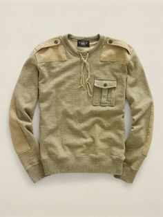 Heathered fleece sweatshirt by RRL. $245.00.