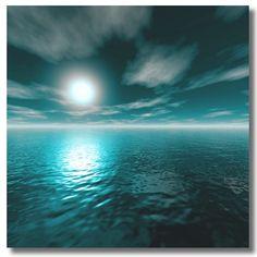 Sunrise Landscape, Abstract Landscape, Diy Canvas Art, Canvas Art Prints, Teal Wall Decor, Black And White Photo Wall, Seascape Art, Moon Art, Cool Paintings
