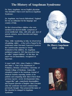 History of Angelman Syndrome - Dr. Harry Angelman (August 13, 1915 - August 1996)
