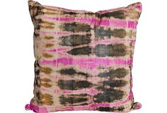 hot pink hand-dyed pillow // one kings lane