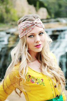 "the ""Flora"" 40s style head wrap, headband, scarf, retro pinup, multi floral, women, girls - LoveItSoMuch.com"