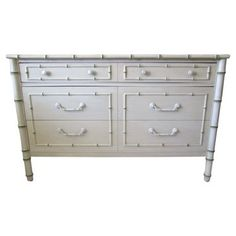 Check out this item at One Kings Lane! Thomasville Faux-Bamboo Dresser