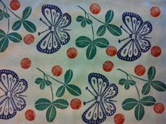 Blockprinting Fabricdyeing Butterfly