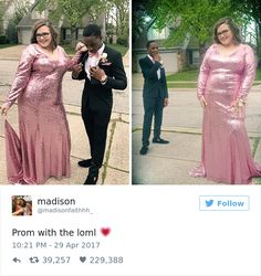 Meet Tre Booker and his girlfriend Madison - a completely adorable couple that just recently attended their school prom. Just like most high school couples, before heading to the dance they… Sweet Stories, Cute Stories, Cute Relationship Goals, Cute Relationships, Car Art, High School Couples, Pin Up, Faith In Humanity Restored, You Funny