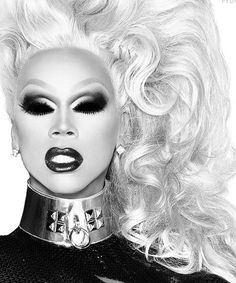 Rupaul black and white effect
