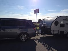2011 Honda Odyssey hitched up to the Alto 1713 travel trailer, ready to go!