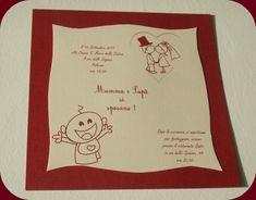 """Buccia in Wedding: Partecipazioni """"Mamma e Papà si sposano"""" in Bordeaux"""