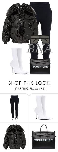 """BNA"" by deborahsauveur ❤ liked on Polyvore featuring Vetements, Balenciaga, Off-White and Yves Saint Laurent"