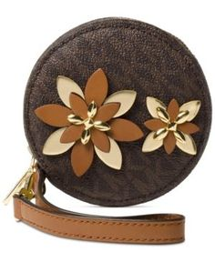 9a13b97722af Michael Michael Kors Flowers Pouches Small Coin Purse - Brown Brown Wallet, Pouch  Bag,