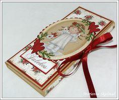 Candy Bar Holder Mariannes papirverden.: Sjokoladekort
