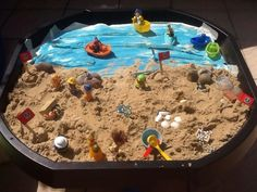 Beach Pirate Activities, Eyfs Activities, Nursery Activities, Infant Activities, Activities For Kids, Sensory Tubs, Sensory Boxes, Sensory Play, Tuff Tray Ideas Toddlers