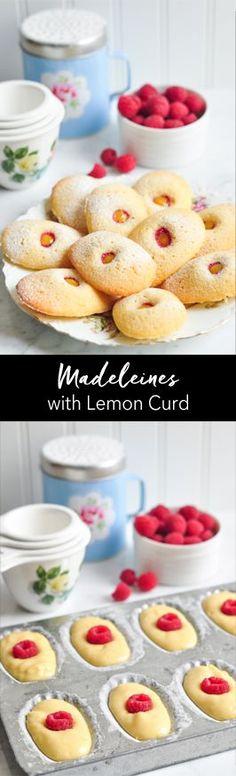 Madeleines with Lemon Curd. A delicious recipe from The Little Paris Kitchen by Rachel Khoo   eatlittlebird.com