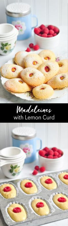 Madeleines with Lemon Curd. A delicious recipe from The Little Paris Kitchen by Rachel Khoo | eatlittlebird.com