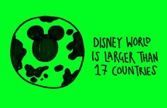 Walt Disney World is Larger than 17 Countries Funny Fun Facts, Weird Facts, Random Facts, Random Things, Funny Memes, Hilarious, Movie Facts, Crazy Things, True Facts