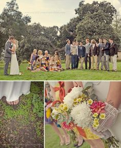 The top shot is one of my favorites I've ever seen of a wedding party. I think it would be great for our outdoor wedding with an unbalanced wedding party! Bridal Party Poses, Wedding Poses, Bridal Parties, Wedding Trends, Wedding Blog, Wedding Ideas, Chic Wedding, Fall Wedding, Wedding Photography Inspiration