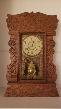 New Haven Clock found hidden in a boarded up fireplace. Classic Clocks, The Collector, Antiques, Ebay, Vintage, Room, Home Decor, Products, Antiquities