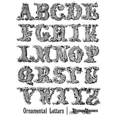 free decorative ornamental letters of the english alphabet
