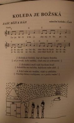 Advent, Sheet Music, Preschool, European Countries, Songs, Education, Czech Republic, Low Carb, Keto