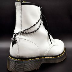 Items similar to Boot Chain Bracelet - Gweneviere - Jewelry for Combat Boots Docs Dr Martens, Doctor Martens, Doc Martins - Neo Victorian Goth Gothic Romance on Etsy Dr Martens 1460, Dr. Martens, Grunge Outfits, Fashion Outfits, Aesthetic Grunge Outfit, Combat Boots, Chain, Trending Outfits, Unique Jewelry
