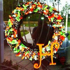Fall ribbon wreath :) Made by Jennifer C.