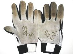 19ee6871f AJ Francis New England Patriots Practice Worn and Signed Gray, White &  Black Nike Gloves