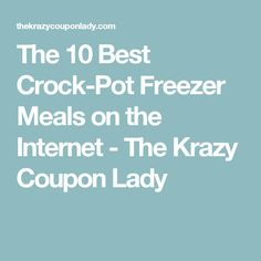 My Crock-Pot is a lifesaver when it comes to making dinner easy. Now, these make-ahead Crock-Pot freezer meals make a set-and-forget dinner even better! Slow Cooker Freezer Meals, Make Ahead Freezer Meals, Crock Pot Freezer, Dump Meals, Crockpot Dishes, Freezer Cooking, Crock Pot Cooking, Slow Cooker Recipes, Cooking Recipes