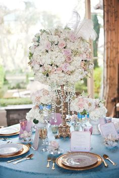 Via Disney Fairy Tale and Weddings - Cinderella Inspiration. I ADORE the centerpieces.