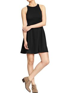 Women's Fit & Flare Ponte-Tank Dresses | Old Navy