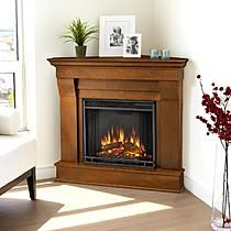 Real Flame Chateau Corner Electric Fireplace in Espresso 38Hx41Wx25D