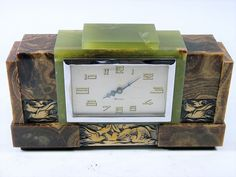 High Quality 8-Day French Art Deco Mantle Clock by DEP c1920-30
