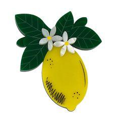 Peppy Chapette Lemon Blossom brooch by Louisa Camille